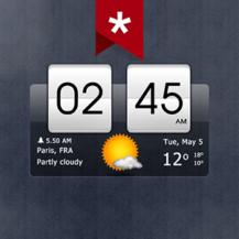 برنامه Sense Flip Clock & Weather برای اندروید